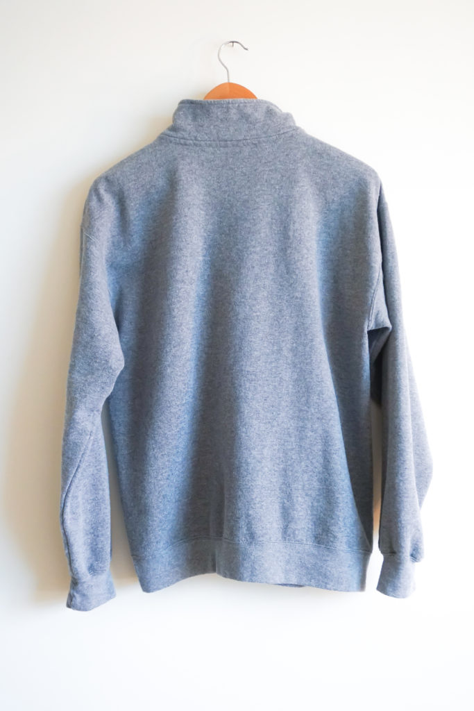 Quarter Zip Sweatshirt Back