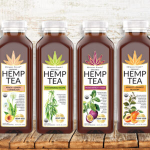 bottles of Chiques Creek Organic Hemp Tea