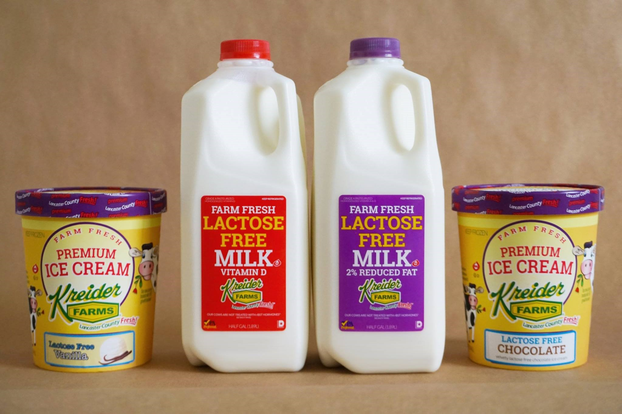 Kreider Farms Lactose Free Products