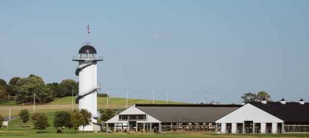 Kreider Dairy Farms with Cow Barns and Silo