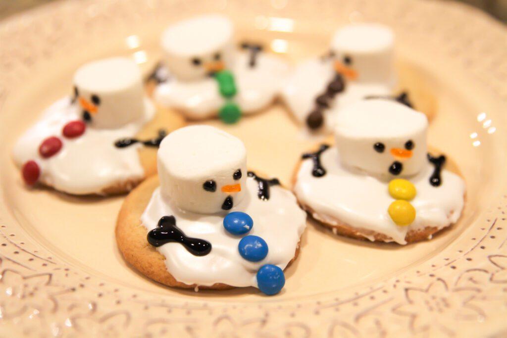 Melted Snowmen Sugar Cookies