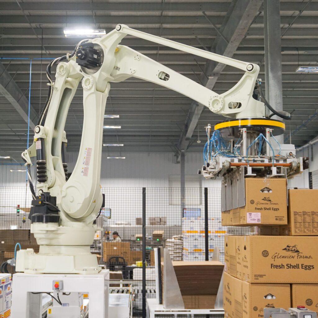 high tech robotic case stacker