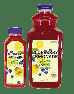Kreider Farms blueberry lemonade single serve and bulk size