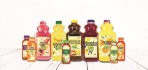 Assorted Kreider Farms drinks and teas in various sizes and flavors