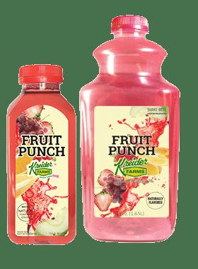 Kreider Farms fruit punch single serve and bulk size
